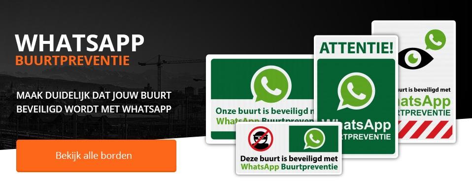 Whatsapp verkeersbord bij Verkeersborden.com