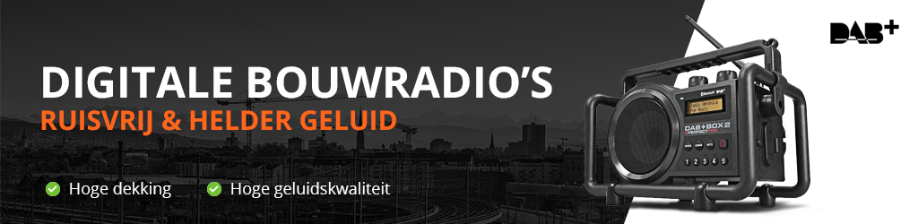 Digitale bouwradio DAB plus