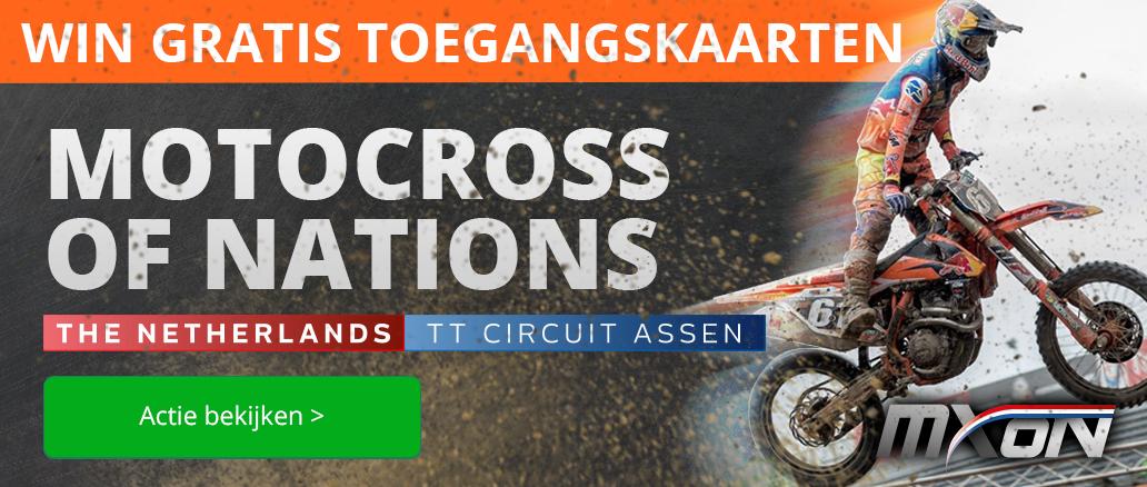 Motocross actie bij Visser Assen