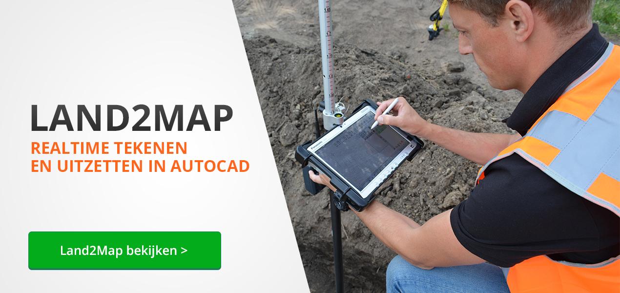 Realtime tekenen en uitzetten in Autocad met Land2Map