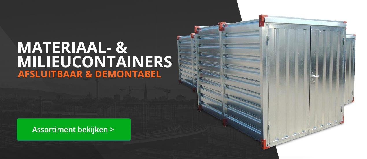Materiaalcontainers en milieucontainers voor veilige opslag