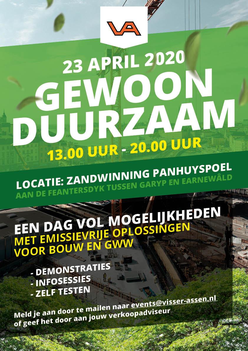 Flyer evenement Gewoon Duurzaam