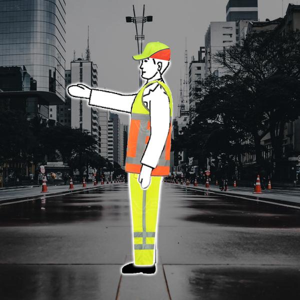 Vekeersregelaar stopteken voor verkeer van rechts
