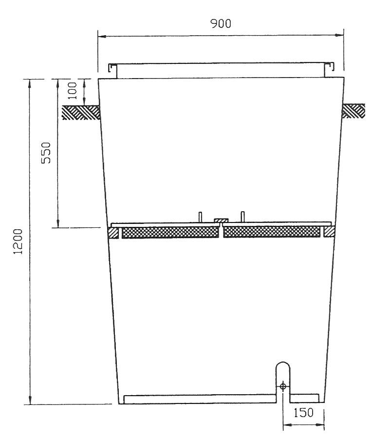 De plaatsing van een bouwwaterput