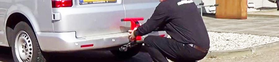 trekhaakslot Matador Bull Lock voorkomt inbraak in je bedrijfsbus