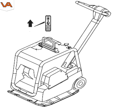 Wacker trilplaat diesel met hijsoog | Visser Assen