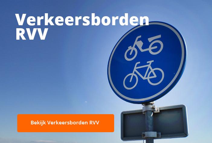 Officiële verkeersborden RVV bij Visser Assen