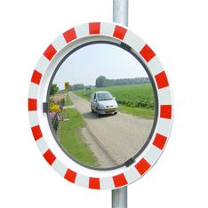 Glazen verkeersspiegels