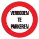 Verboden te parkeren