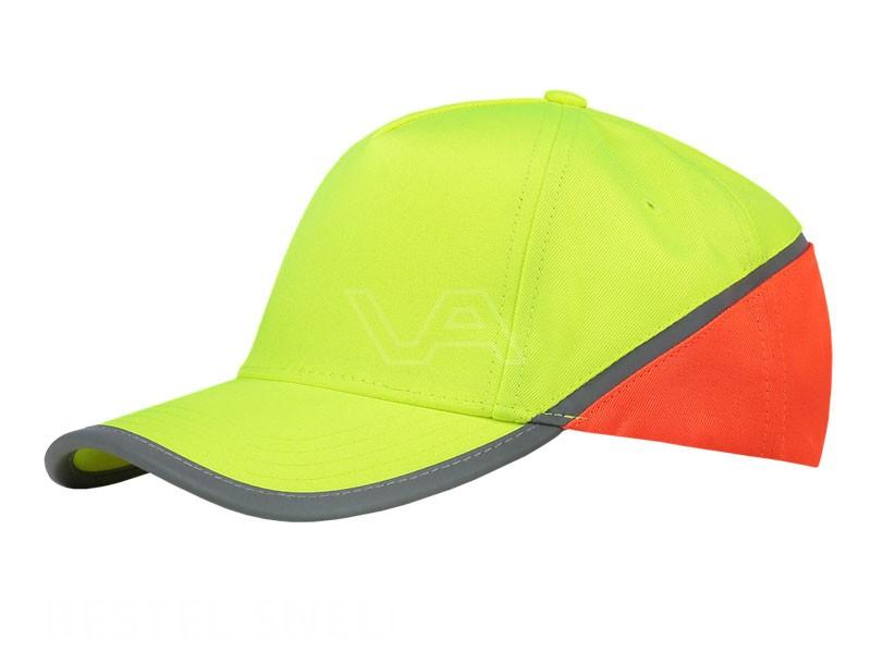 Cap Verkeersregelaar fluor geel-oranje