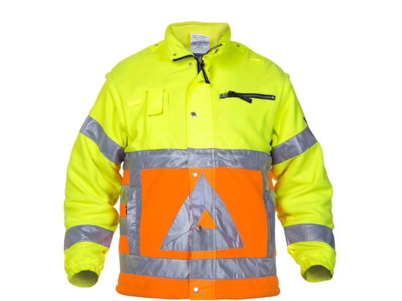 Verkeersregelaarsjas fleece met afritsbare mouwen Hydrowear