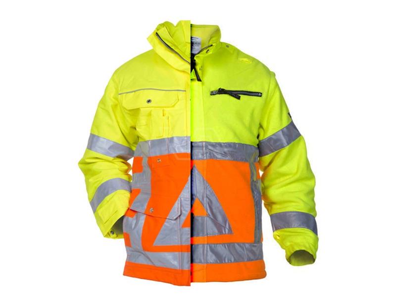 Verkeersregelaarsjas parka met fleece binnenjas Hydrowear