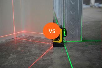 Wat is het verschil tussen een rode en een groene laserstraal?