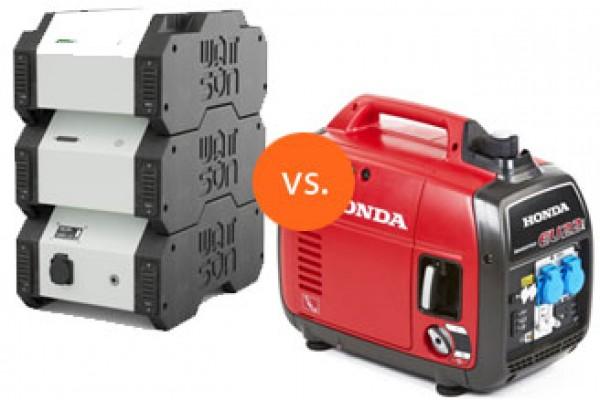 Wattsun batterijsysteem vs. aggregaat: kan het uit?