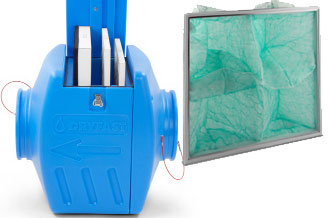Filterbox Dryfast FB300: dé oplossing tegen verfnevel en stof