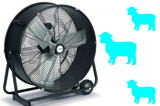 Windmachine houdt je vee koel