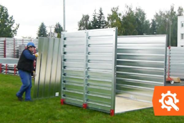 Hoe monteer je een materiaalcontainer?