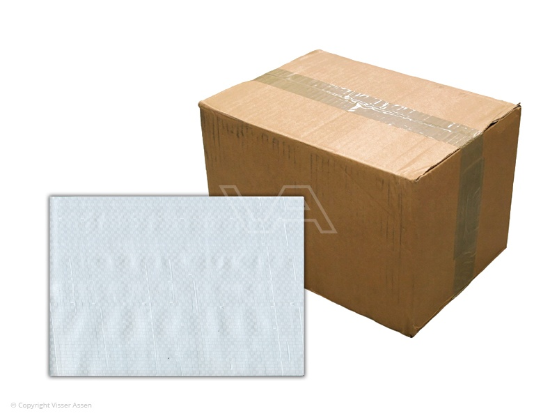 Bouwhekdoek wit 1.76 x 3.41m   20 stuks