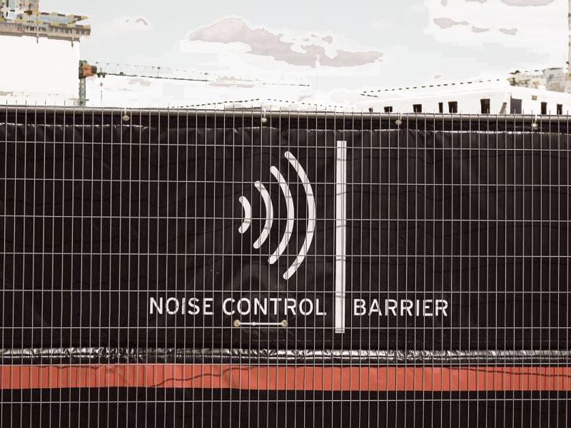 Bouwhekdoek Noise Control Barrier Heras
