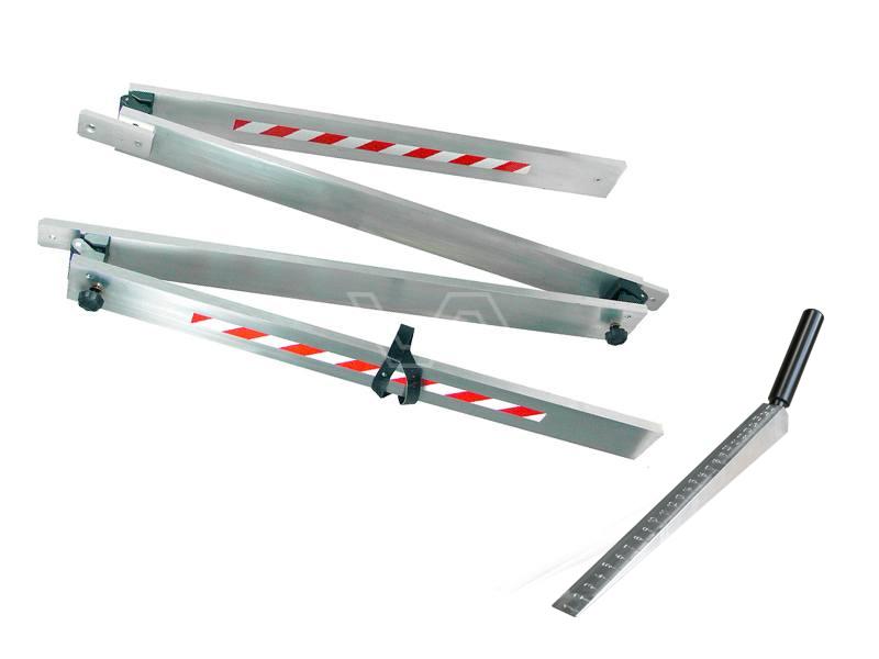 Afreilat inklapbaar aluminium 4 meter met meetwig