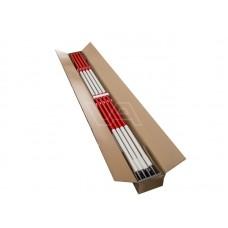 Jalon hout geplastificeerd rode top doos à 12 stuks