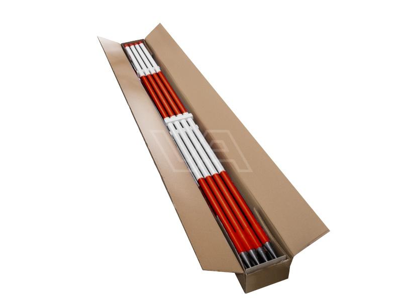 Jalon hout geplastificeerd witte top |doos 12 stuks