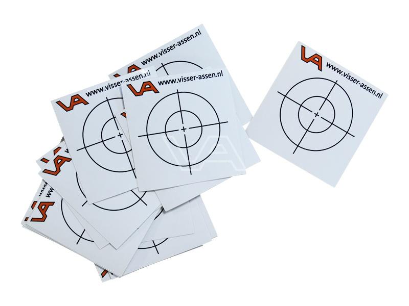Meetstickers VA kl. 1 50x50 mm zakje à 10 stuks