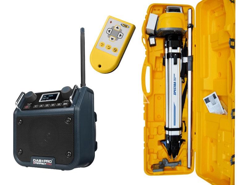 Bouwlaser Kofferset Spectra LL300N met DAB+-radio