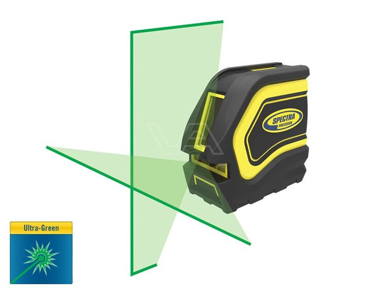 Kruislijnlaser Spectra Precision LT20G met groene stralen