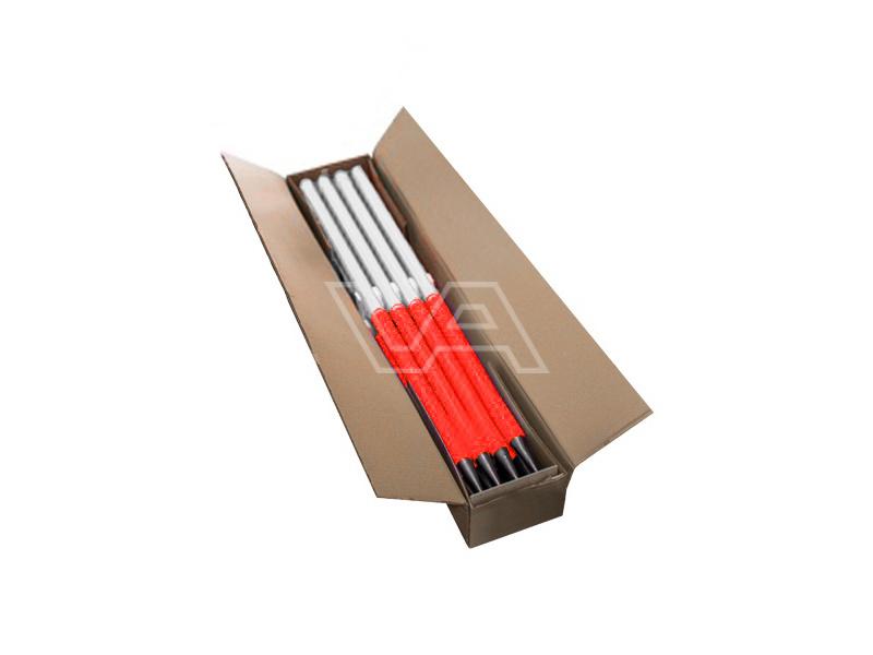 Jalon deelbaar metaal witte top doos à 6 stuks