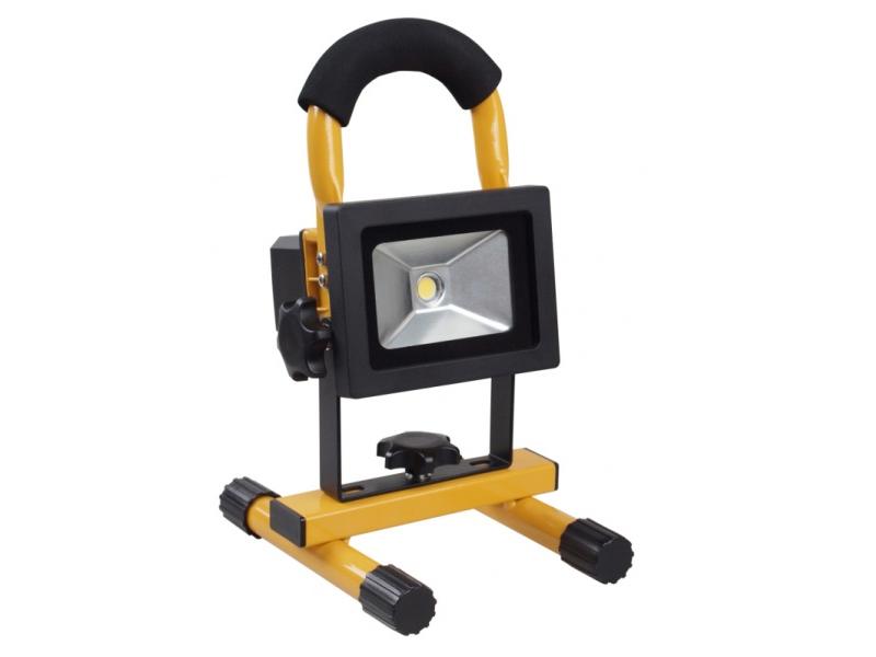 LED-bouwlamp 10 Watt op accu oplaadbaar klasse 3