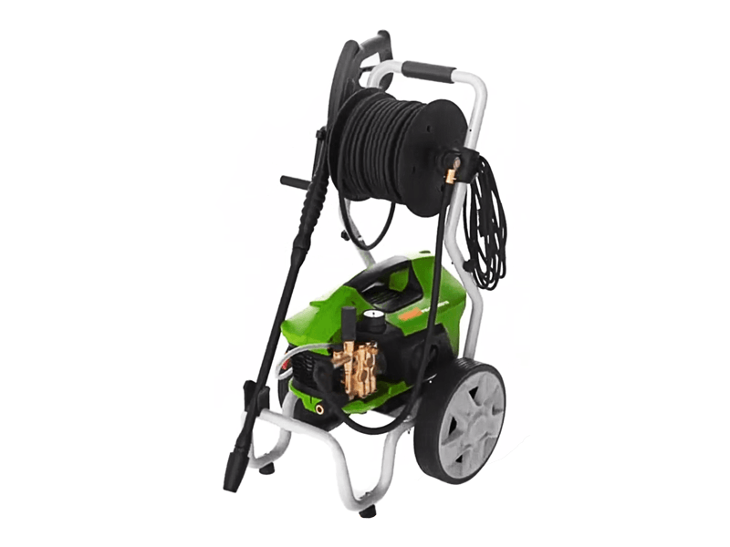Hogedrukreiniger DiBO PW-C21 150/9 met slanghaspel op transportwagen