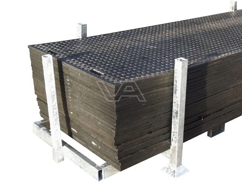 Rijplaten kunststof DES 3 x 1m 20mm | 20 stuks in rek