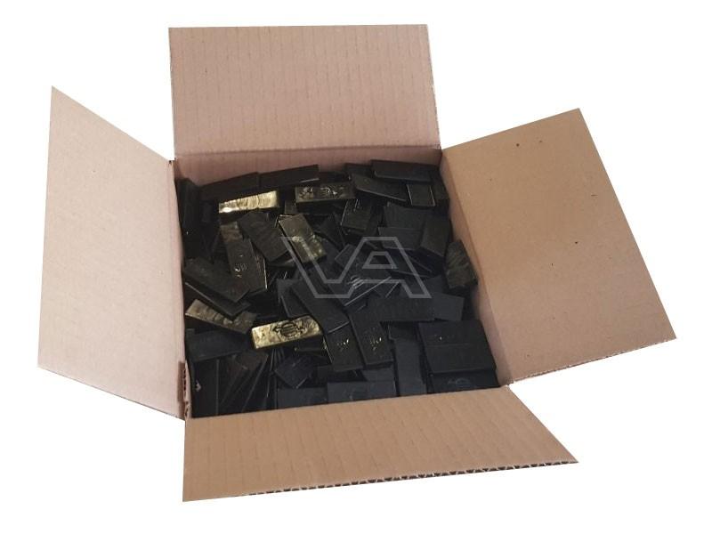 Stelpiramide wiggen zwart in doos | 500 stuks