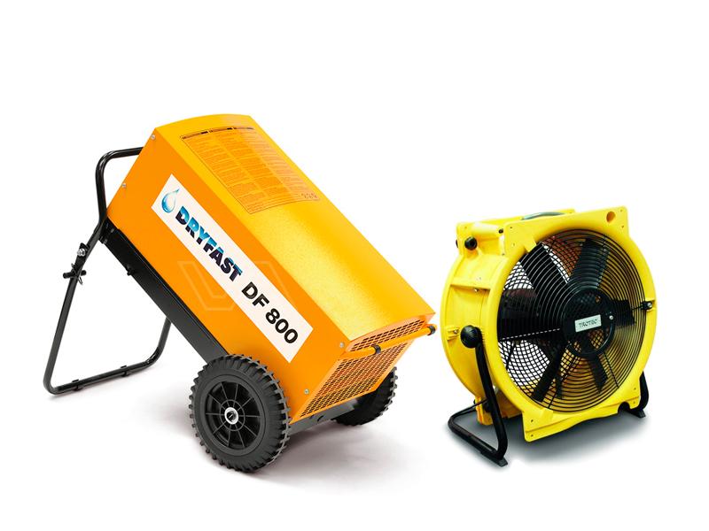 Bouwdroger DF 800 + ventilator