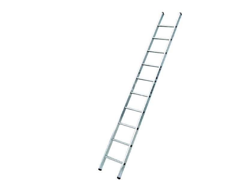 Ladder met rechte voet 1x10 sporten Euroline