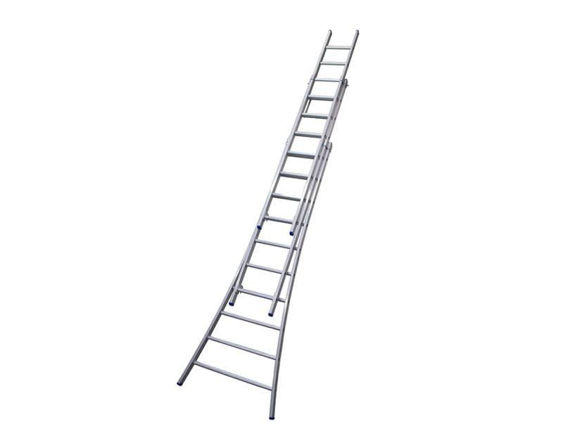 Ladder uitschuifbaar 3-delig 3 x 10