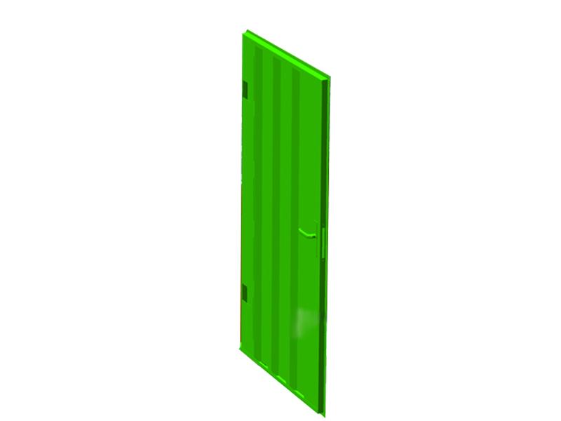 Deur rechts voor materiaalcontainer