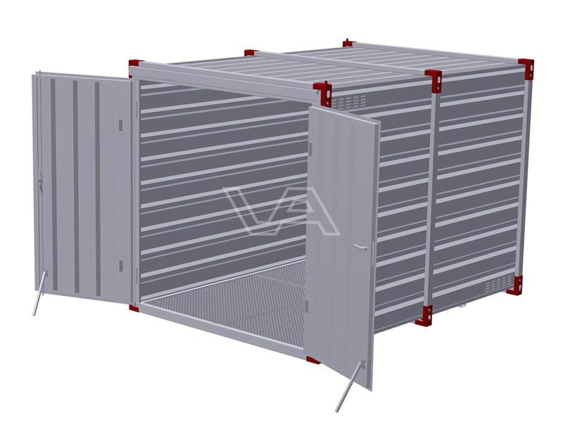 Milieucontainer 3 meter met roostervloer