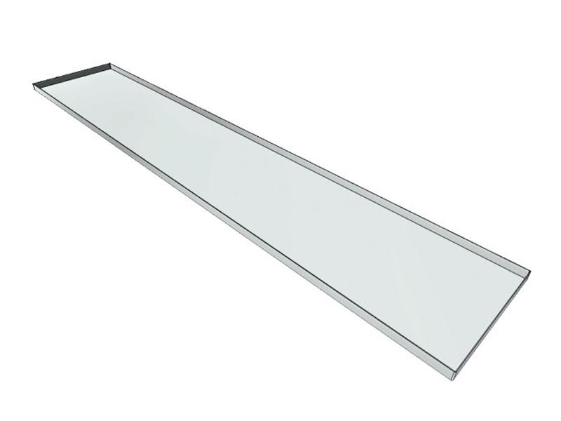 Legplank lang 280 cm voor materiaalcontainer