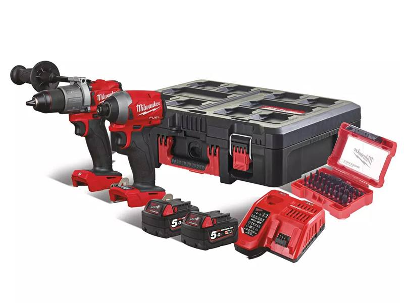 Milwaukee  M18 FPP2a2-502P slagboormachine + slagschroevendraaier
