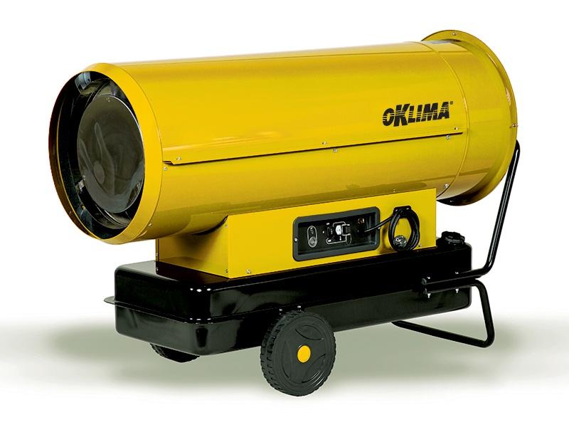 Heteluchtkanon Oklima SD 380   direct gestookt