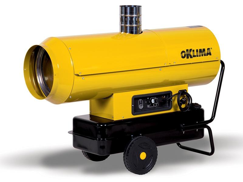 Heteluchtkanon Oklima SE 200    indirect gestookt