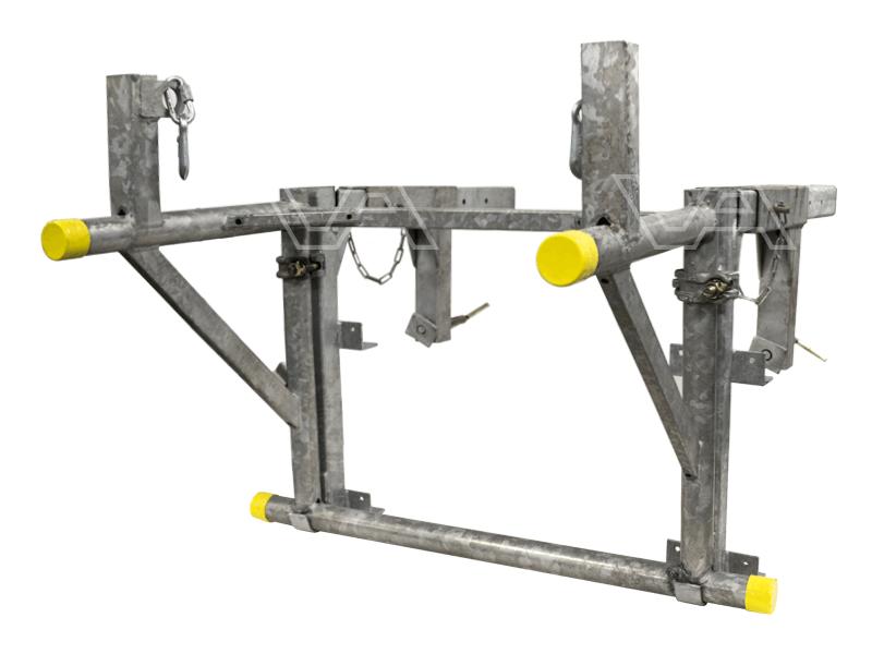 Balkonsteun en draagbok voor stortkoker
