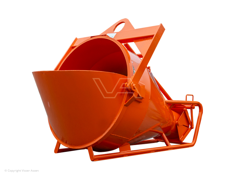 Betonkubel onderlossing 750 liter