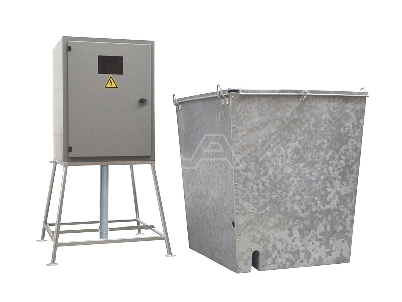 Bouwmeterkast staal 40A met watermeterput