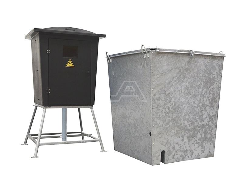 Bouwmeterkast kunststof 63A met bouwwaterput