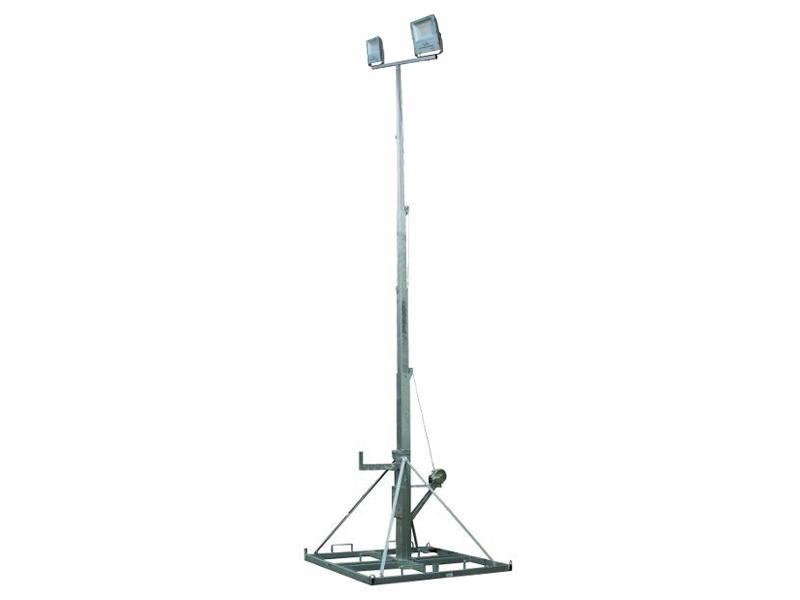 Lichtmast telescopisch 3 - 10,5 meter