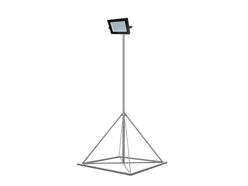 Lichtmast met LED-bouwlamp 3 meter