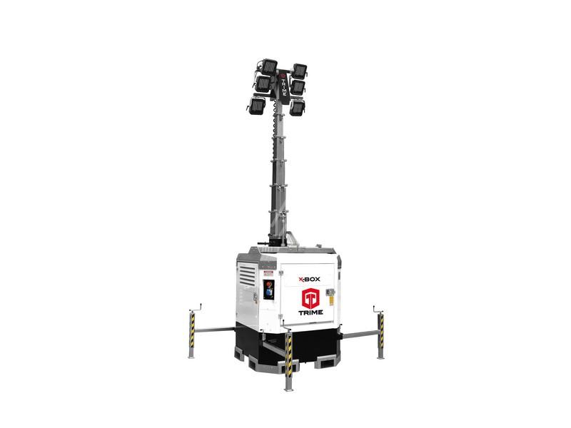 Lichtmast X-Box 6 x 160 Watt LED
